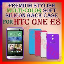 ACM-PREMIUM RICH MULTI-COLOR SOFT SILICON BACK CASE for HTC ONE E8 MOBILE COVER