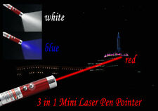 3in1 Mini Red Beam Laser Pen LED Torch Light UV Light Cat Toy (2 FOR £5.49)