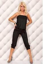 WOMENS NEW LADIES CELEBRITY STYLE All IN ONE TROUSER STRAPLESS JUMPSUIT PLAYSUIT