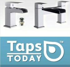 Bathroom Waterfall Bath Filler Tap Set And Basin Mixer Mono Tap With Free Waste