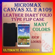 ACM-LEATHER DIARY FOLIO FLIP CASE for MICROMAX CANVAS XL 2 A109 MOBILE COVER NEW