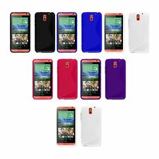 HTC DESIRE 610 S-LINE SILICONE GEL COVER CASE AND SCREEN PROTECTOR