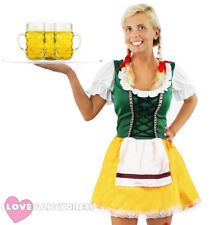 BAVARIAN BEER GIRL COSTUME OKTOBERFEST FANCY DRESS WOMENS GERMAN MAID WENCH