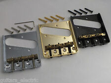 WILKINSON WTB BRIDGE COMPENSATED BRASS SADDLES in Chrome, Black or Gold