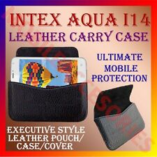 ACM-HORIZONTAL LEATHER CARRY CASE for INTEX AQUA I14 MOBILE POUCH HOLDER COVER