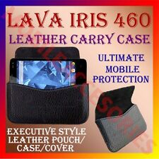 ACM-HORIZONTAL LEATHER CARRY CASE for LAVA IRIS 460 MOBILE POUCH HOLDER COVER