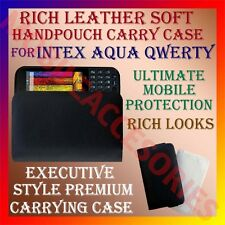 ACM-RICH LEATHER SOFT CARRY CASE for INTEX AQUA QWERTY MOBILE HANDPOUCH COVER