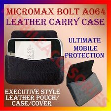 ACM-HORIZONTAL LEATHER CARRY CASE for MICROMAX BOLT A064 MOBILE POUCH COVER CASE