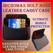 ACM-HORIZONTAL LEATHER CARRY CASE for MICROMAX BOLT A082 MOBILE POUCH COVER CASE