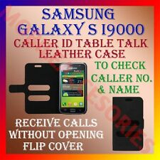 ACM-CALLER ID TABLE TALK CASE for SAMSUNG GALAXY S I9000 FLIP FRONT & BACK COVER