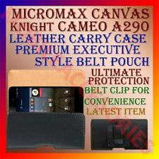 ACM-BELT CASE for MICROMAX CANVAS KNIGHT CAMEO A290 LEATHER CARRY POUCH COVER