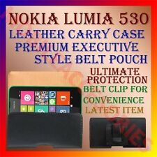 ACM-BELT CASE for NOKIA LUMIA 530 MOBILE LEATHER CARRY POUCH COVER CLIP HOLDER