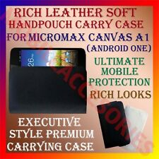 ACM-RICH LEATHER SOFT CARRY CASE for MICROMAX CANVAS A1 ANDROID ONE POUCH COVER