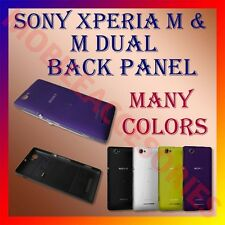 ACM-HIGH QUALITY BACK BATTERY DOOR PANEL of SONY XPERIA M & M DUAL HOUSING COVER