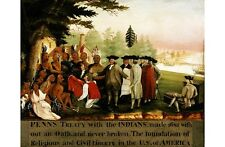 "EDWARD HICKS ""Penn's Treaty With Indians"" print NEW various SIZES available, NEW"