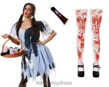 ZOMBIE DOROTHY COSTUME ADULT HALLOWEEN DEAD FAIRYTALE FANCY DRESS COUNTRY GRIL