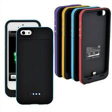 2200mAh Protective Rechargeable Power Battery Case Cover Charger For iPhone 5 5s