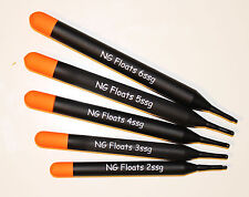 NG Floats Pellet Wagglers Un-loaded, Top Quality, Five Sizes