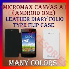 ACM-LEATHER DIARY FOLIO FLIP FLAP CASE for MICROMAX CANVAS A1 ANDROID ONE COVER