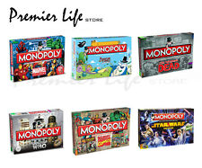 Monopoly Boards Games - Latest Designs Adventure, walking dad, Doctor Who & more
