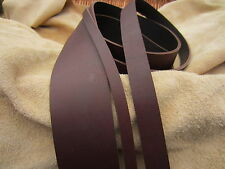 """60""""LONG OIL TANNED Dark Brown 4mm THICK FULL GRAIN BUTT LEATHER STRAP ALL WIDTHS"""