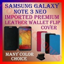 ACM-MULTI-COLOR IMPORTED RICH LEATHER CASE for SAMSUNG GALAXY NOTE 3 NEO COVER
