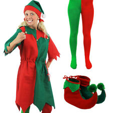 LADIES ELF COSTUME CHRISTMAS FANCY DRESS OPTIONAL ACCESSORIES XMAS PARTY S-XXXXL