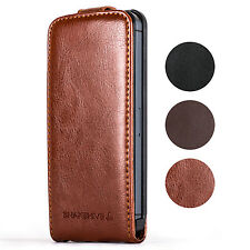 SNAKEHIVE® Premium Leather Flip Case Cover for Apple iPhone - All Models