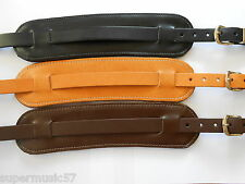 UK MADE PADDED GENUINE LEATHER ELECTRIC/ACOUSTIC VINTAGE STYLE GUITAR STRAP