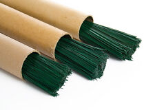"""Floristry Craft Stub Wire Green Coated 250g support wiring 10/"""".90mm 20swg strong"""