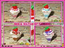 RARE Handmade Best Friends Ice Cream Sundae Cup Toppings BF Silver Necklace