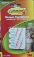 3M Command Poster Strips Hanging Christmas xmas Cards Decorations Damage free