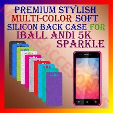 ACM-PREMIUM MULTI-COLOR SOFT SILICON BACK CASE for IBALL ANDI 5K SPARKLE COVER