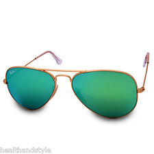 Ray Ban RB3025 112/19 Aviator Gold Frame/Green Mirror Sunglasses Size 55 & 58