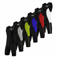 Lotas Mens Triathlon Suit Cycling Running Compression Tri Suit Cool Max Padding