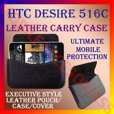 ACM-HORIZONTAL LEATHER CARRY CASE for HTC DESIRE 516C MOBILE POUCH COVER HOLDER