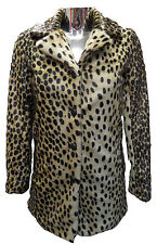 Womens Ladies New WINTER Trendy Brown Animal Cheetah Print  Faux Fur Coat/Jacket