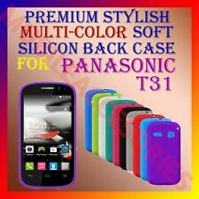 ACM-PREMIUM MULTI-COLOR SOFT SILICON BACK CASE for PANASONIC T31 MOBILE COVER
