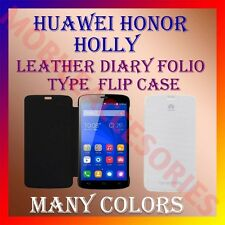 ACM-LEATHER DIARY FOLIO FLIP FLAP CASE for HUAWEI HONOR HOLLY MOBILE FULL COVER