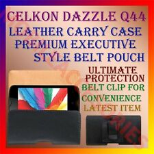 ACM-BELT CASE for CELKON DAZZLE Q44 MOBILE LEATHER POUCH CARRY COVER CLIP HOLDER