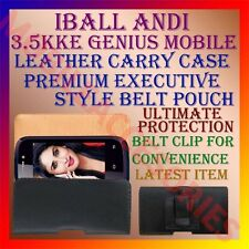 ACM-BELT CASE for IBALL ANDI 3.5KKE GENIUS LEATHER POUCH CARRY COVER CLIP HOLDER