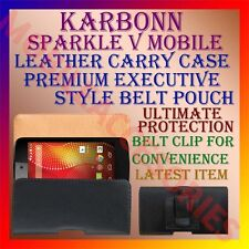 ACM-BELT CASE for KARBONN SPARKLE V MOBILE LEATHER POUCH CARRY COVER CLIP HOLDER