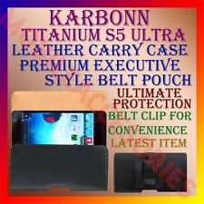 ACM-BELT CASE for KARBONN TITANIUM S5 ULTRA MOBILE LEATHER POUCH COVER HOLDER