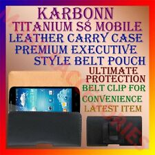 ACM-BELT CASE for KARBONN TITANIUM S8 MOBILE LEATHER POUCH CARRY COVER HOLDER