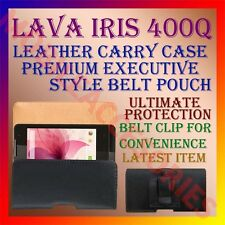 ACM-BELT CASE for LAVA IRIS 400Q MOBILE LEATHER CARRY POUCH COVER CLIP HOLDER