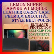 ACM-BELT CASE for LEMON SUPER ASPIRE A1 MOBILE LEATHER POUCH CARRY COVER CLIP