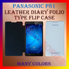 ACM-LEATHER DIARY FOLIO FLIP CASE for PANASONIC P81 MOBILE FRONT & BACK COVER