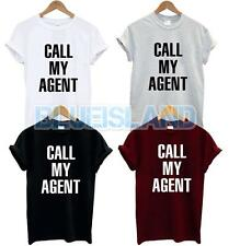 CALL MY AGENT T SHIRT SWAG tumblr Slogan Funny Fashion Dope BLOGGER OOTD Hipster