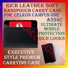 ACM-RICH LEATHER SOFT CASE for CELKON CAMPUS ONE A354C MOBILE HANDPOUCH COVER
