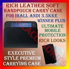 ACM-RICH LEATHER SOFT CASE for IBALL ANDI 3.5KKE WINNER PLUS HANDPOUCH COVER NEW
